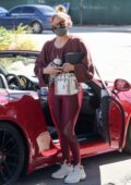 Jennifer Lopez and Alex Rodriguez seen arriving to a Alex's new UFC gym in Miami, Florida