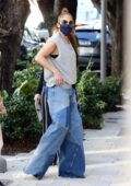 Jennifer Lopez takes her daughter out for some Christmas shopping at Gucci store in Miami, Florida