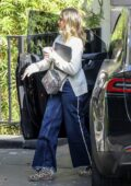 Jessica Alba debuts her new platinum blonde hairdo while out in Los Angeles