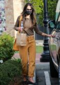 Jordana Brewster grabs lunch and stops for gas while Christmas shopping in Pacific Palisades, California