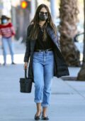 Jordana Brewster picks up a few essentials while out shopping at Trader Joe's in Santa Monica, California