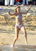 Josie Canseco makes a splash in a bikini while vacationing with friends in Cabo San Lucas, Mexico