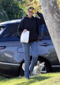 Kaia Gerber and Jacob Elordi step out with Kaia's adorable puppy to run a few errands in Los Angeles