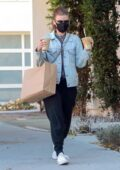 Kate Mara steps out to pick up her lunch and two iced coffees to-go in Los Angeles