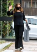 Katharine McPhee dons all-black for some last-minute Christmas shopping at John Varvatos store in West Hollywood, California