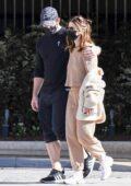 Katherine Schwarzenegger enjoys a walk with Chris Pratt on her 31st birthday in Brentwood, California