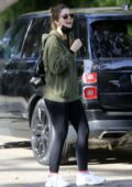 Katherine Schwarzenegger steps out for a tennis match with her sister Christina in Los Angeles