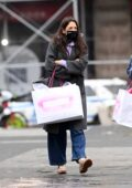 Katie Holmes seen shopping at ABC Carpet And Home in New York City