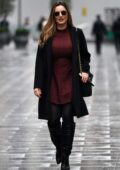 Kelly Brook looks chic as she leaves the Global Radio Studios in London, UK