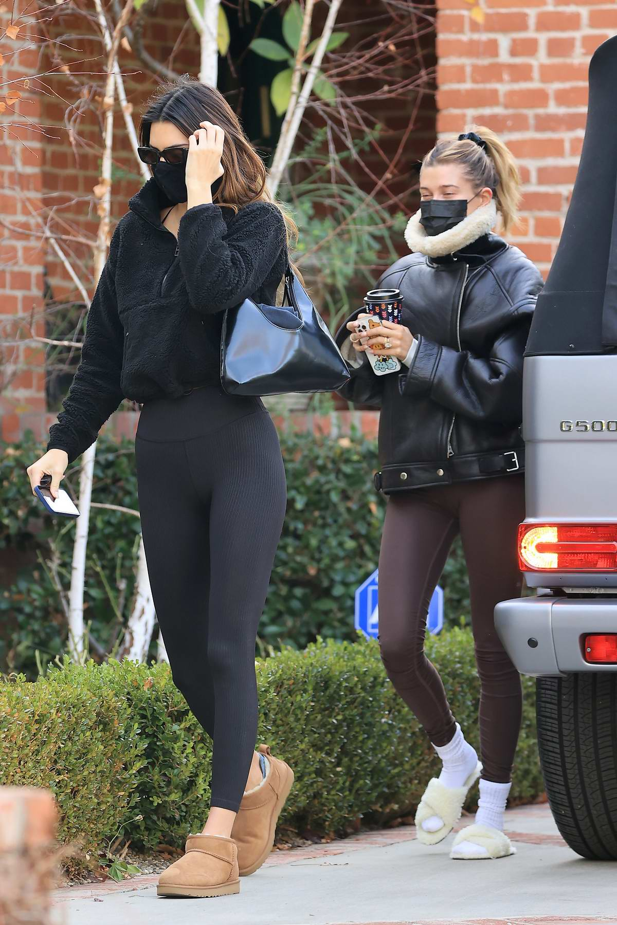 Kendall Jenner and Hailey Bieber head out for a workout session in Los Angeles