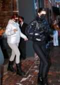 Kendall Jenner and Kylie Jenner put on a stylish display as they leave the Prada store in Aspen, Colorado