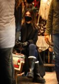 Kendall Jenner goes shopping for boots with her buddy Fai Khadra at Kemo Sab clothing store in Aspen, Colorado
