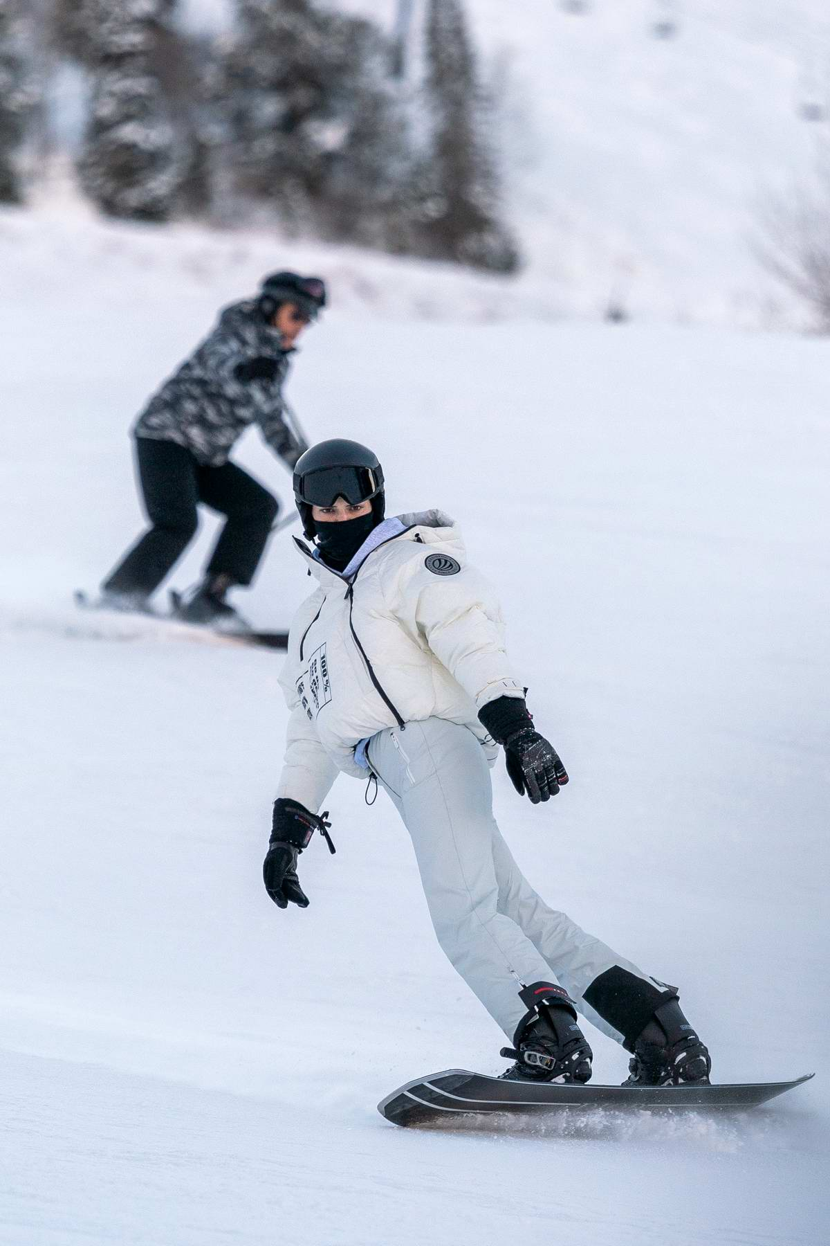 Kendall Jenner hits the slopes with Fai Khadra and her mom in Aspen, Colorado
