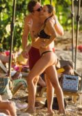 Kimberley Garner flaunts her stunning figure in a polka dot bikini during a PDA filled day with her new boyfriend in Barbados