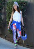Lena Headey and new boyfriend Marc Menchaca enjoy a workout in West Hollywood, California