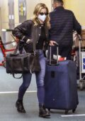 Lili Reinhart seen with her luggage as she rushes to catch a flight out of Vancouver, Canada