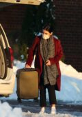 Lucy Hale seen checking out of her hotel in Upstate New York