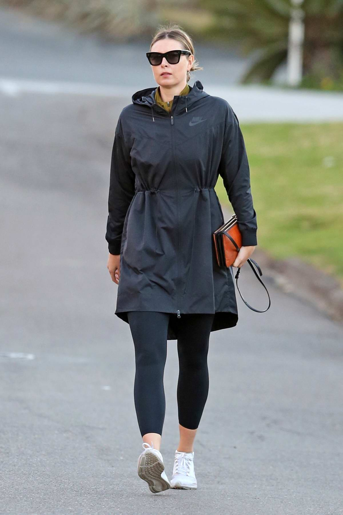 Maria Sharapova seen for the first time since her engagement as she leaves a private workout in Manhattan Beach, California