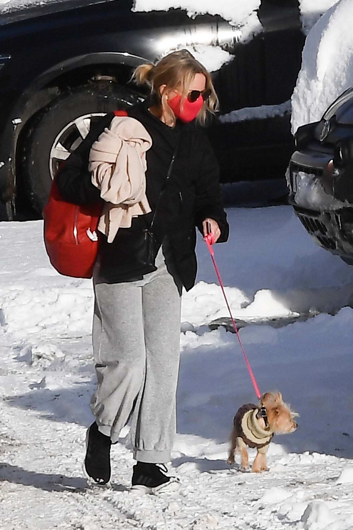 Naomi Watts and Liev Schreiber enjoy a break with their children at the ski resort of Cortina d'Ampezzo, Italy