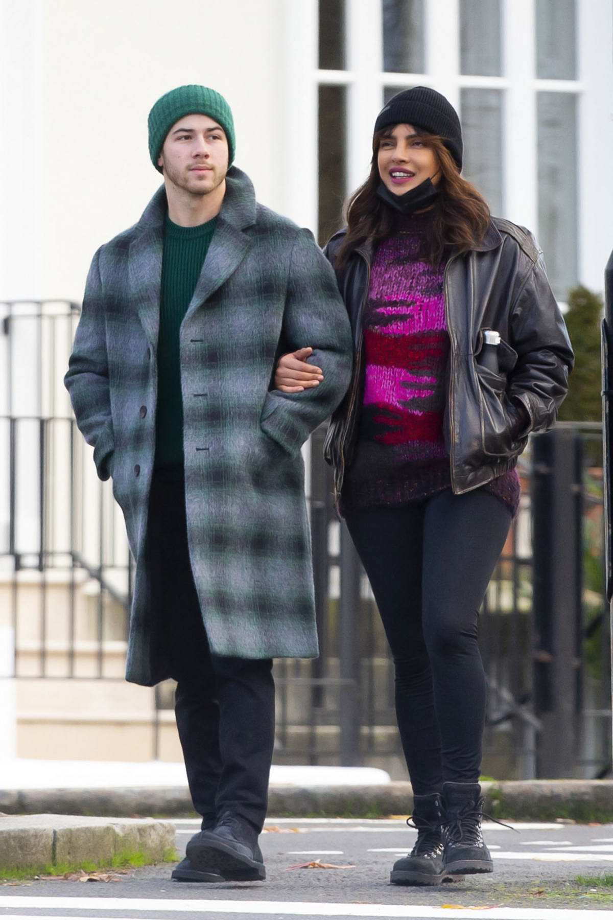 Priyanka Chopra is all smiles while enjoying a stroll with husband Nick Jonas in London, UK