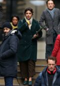 Priyanka Chopra seen filming new romantic drama 'Text For You' in Meopham, Kent, UK
