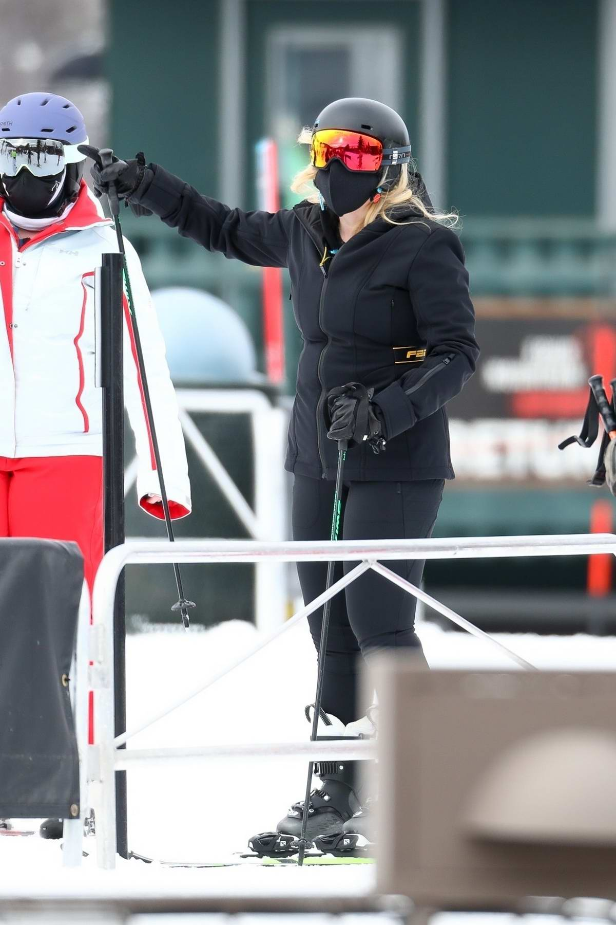 Rebel Wilson has a fun day as she goes skiing with her sister and later enjoys dinner boyfriend Jacob Busch in Aspen, Colorado