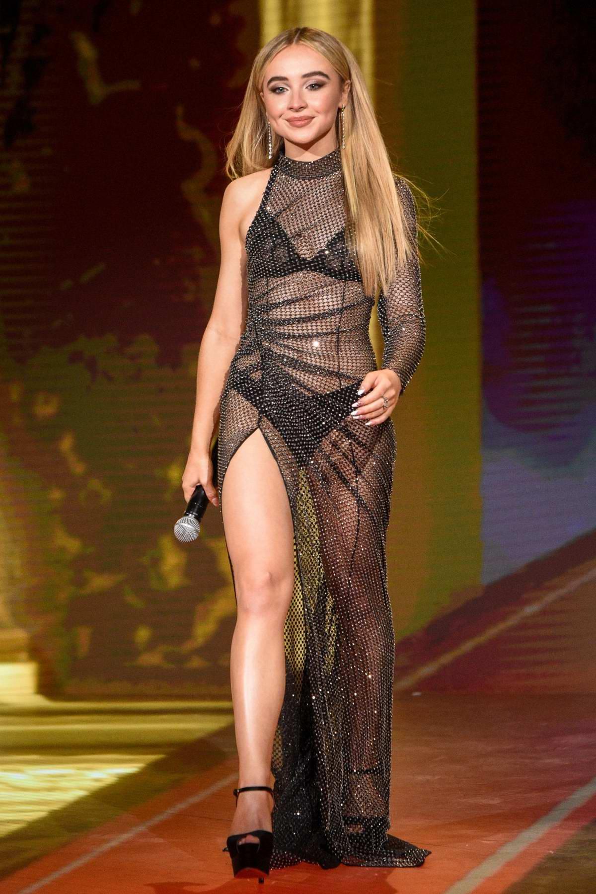 Sabrina Carpenter attends the 2020 MTV Movie & TV Awards in Los Angeles
