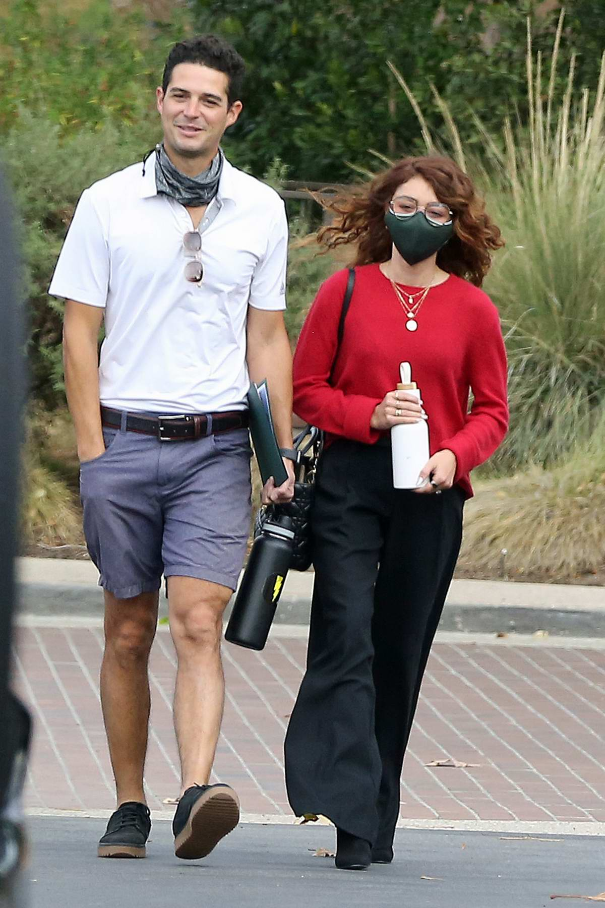 Sarah Hyland checks out wedding venues with her fiancé Wells Adam in Los Angeles