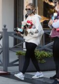 Sarah Michelle Gellar sports a hoodie and leggings while leaving platefit gym in Brentwood, California