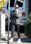 Shay Mitchell and Matte Babel step out for lunch with their baby girl Atlas in Los Feliz, California