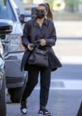 Sofia Richie dresses down in dark colors for a dermatologist appointment in Beverly Hills, California