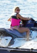 Sofia Richie enjoys some jet skiing while on vacation with her father Lionel Richie in St Barts, France