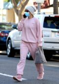 Sofia Richie looks pretty in pink as she heads to an appointment in Beverly Hills, California