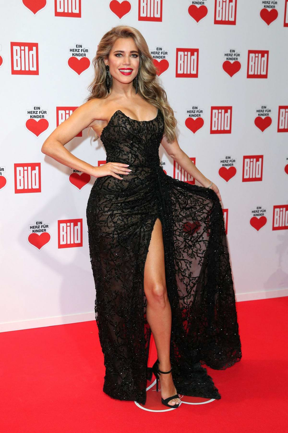 Sylvie Meis attends Ein Herz für Kinder Gala in Berlin, Germany