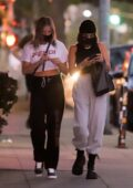 Vanessa Hudgens looks trendy in tank top and sweatpants while out with BFF GG Magree in Los Feliz, California