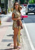 Alessandra Ambrosio looks stylish in a floral print romper as she steps out with a friend in Florianopolis, Brazil