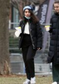 Alessia Cara goes for a New Years Day walk with some friends in Toronto, Canada