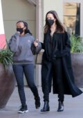 Angelina Jolie looks chic in all-black ensemble as she goes shopping with her daughter Zahara in Los Angeles