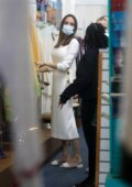 Angelina Jolie looks classy in all-white during a shopping trip to Ethiopian Design in Los Angeles
