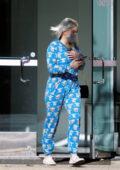 Ariel Winter seen wearing a baby Yoda onesie as leaves Laseraway in Studio City, California