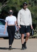 Ashley Benson and G-Eazy step out for a morning hike in the hills in Los Angeles