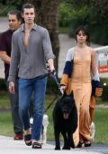 Camila Cabello and Shawn Mendes seen walking the dogs with Camila's family in Miami, Florida