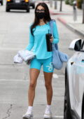 Chantel Jeffries looks fit in blue Alo Yoga outfit as she leaves after a Pilates class in Los Angeles
