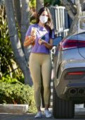 Eiza Gonzalez accidentally drops her phone while out to pick up her morning coffee in West Hollywood, California