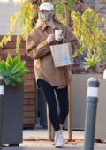 Elsa Hosk makes stop to grab a coffee from Blue Bottle coffee in Studio City, California