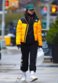 Emily Ratajkowski looks striking in bright yellow jacket as she steps out to pick up some food to-go in New York City