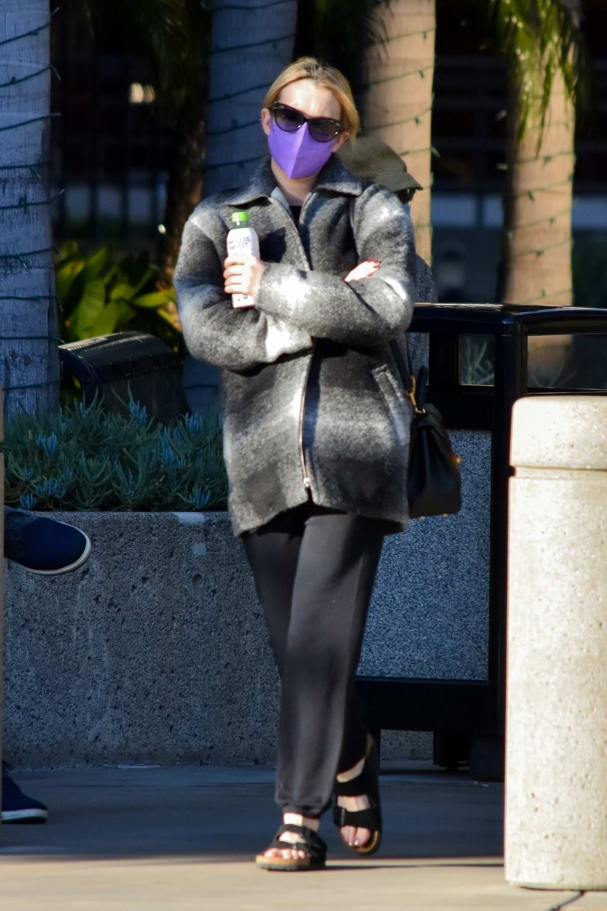 Emma Roberts seen out for the first time since giving birth to a baby boy in Los Angeles