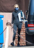 Gwyneth Paltrow dons all-black while exiting the gym in Santa Monica, California