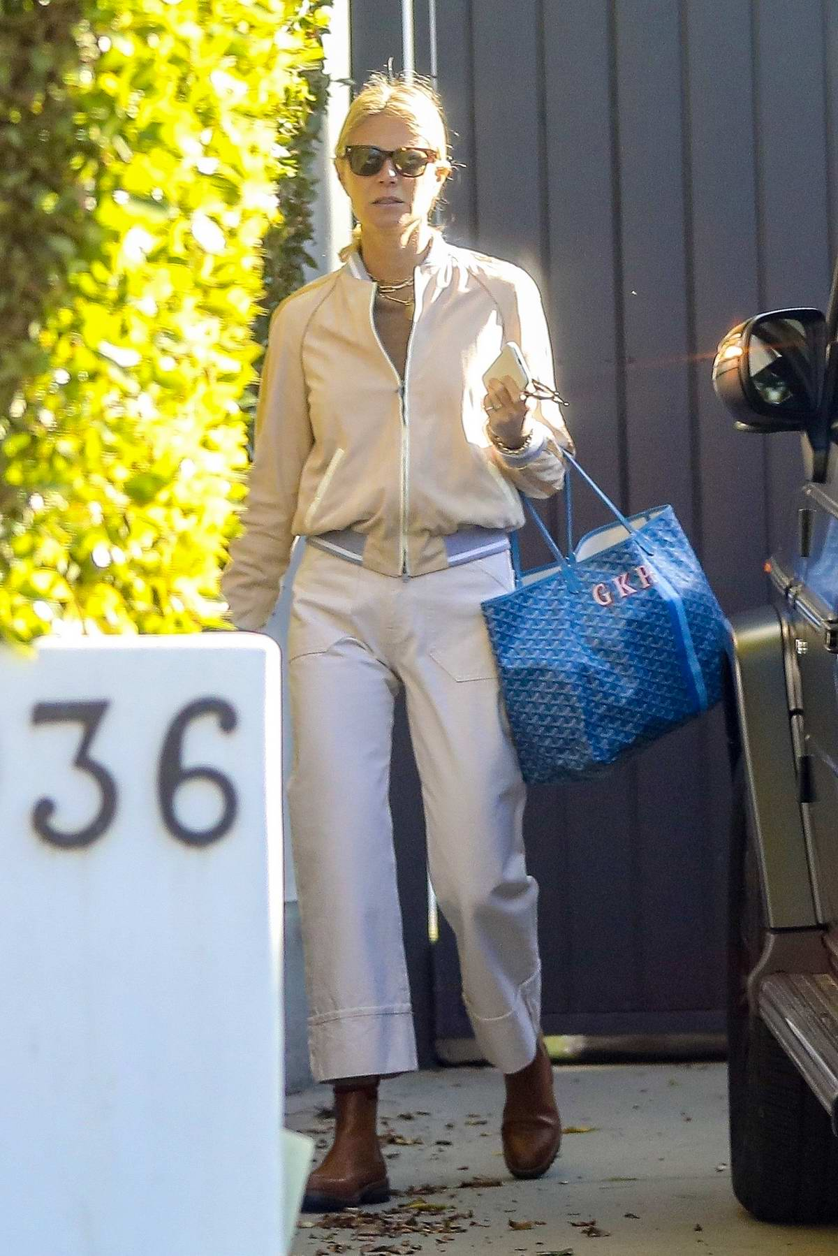Gwyneth Paltrow seen leaving a private gym in Santa Monica, California