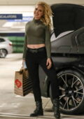 Heidi Montag flashes her midriff in a crop top as she leaves Erewhon Market in Pacific Palisades, California